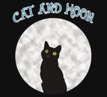 CAT AND MOON by fmstyle