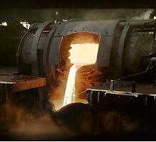[Untitled] (Steel mill), ca. 1940 by Dana Keller