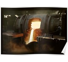 [Untitled] (Steel mill), ca. 1940 Poster