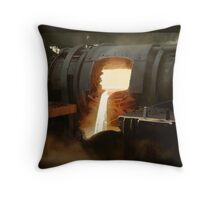 [Untitled] (Steel mill), ca. 1940 Throw Pillow