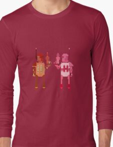 world explorer with a laser gun Long Sleeve T-Shirt