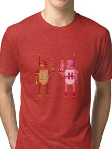 world explorer with a laser gun Tri-blend T-Shirt