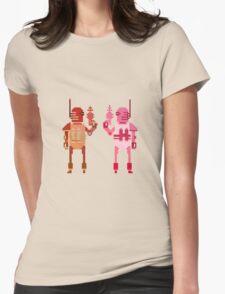 world explorer with a laser gun Womens Fitted T-Shirt