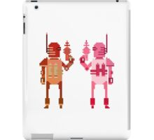 world explorer with a laser gun iPad Case/Skin