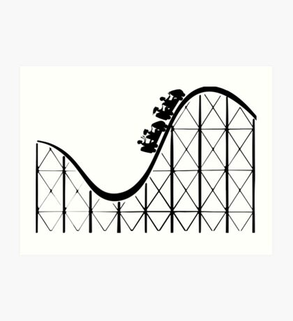 RCT Roller Coaster Tycoon silhouette Art Print