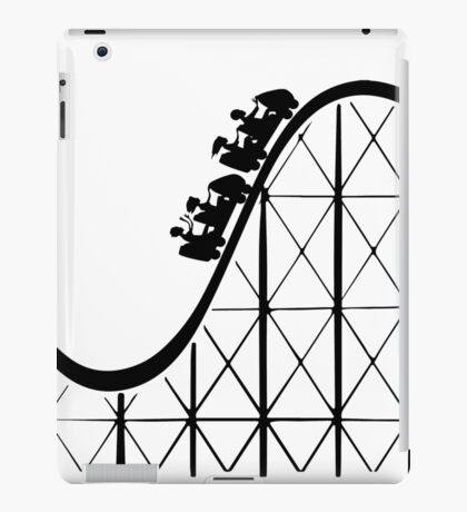 RCT Roller Coaster Tycoon silhouette iPad Case/Skin