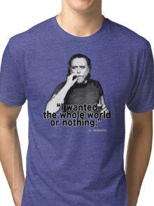 Charles Bukowski 4 Tri-blend T-Shirt