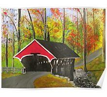 Flume Covered Bridge, Lincoln NH Poster
