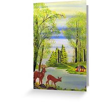 Deer at the Lake Greeting Card