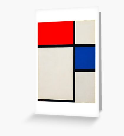 piet-mondrian-dutch--title-composition-no-ii.  Greeting Card