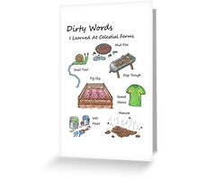 Dirty Words Greeting Card