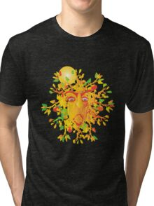 The Face Of Fall Tri-blend T-Shirt