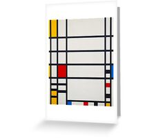 Piet Mondrian, Dutch, Title Trafalgar Square. Greeting Card