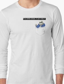 Pocket Sans Undertale Long Sleeve T-Shirt