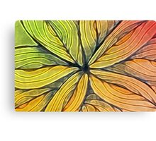Doodled Aura-Leah Digitized Macro Canvas Print