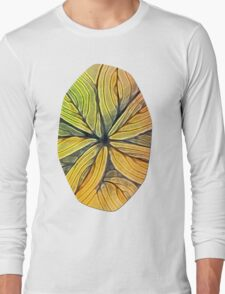 Doodled Aura-Leah Digitized Macro Long Sleeve T-Shirt