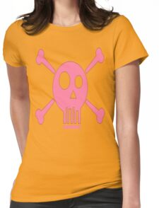 SPACED SKULL & CROSS BONES Womens Fitted T-Shirt