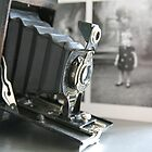 Of its time ....vintage Kodak Autographic Brownie  by LynnEngland