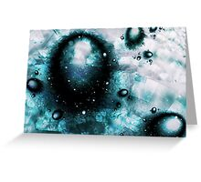 Blue Orbs Greeting Card