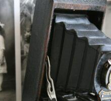 Of its time ....Antique Kodak Folding Autographic Brownie  Sticker