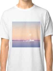 Polar bear on melting iceberg Classic T-Shirt