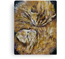 Sleeping Kittens Canvas Print