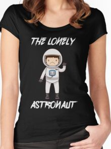 The Lonely Astronaut (White Text) Women's Fitted Scoop T-Shirt