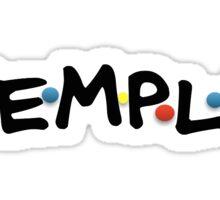 Temple 90's Sticker