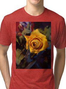 Dried Dead Yellow Rose Tri-blend T-Shirt