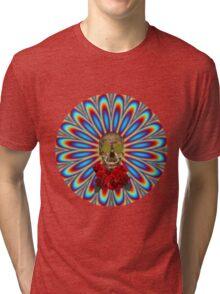 Psychedelic Skull and Roses - Grateful Dead Tri-blend T-Shirt