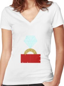 Will You Marry Me Women's Fitted V-Neck T-Shirt