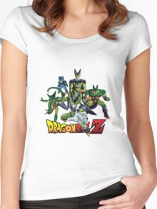 Dragon Ball Z All Star - Cell Evolution Women's Fitted Scoop T-Shirt