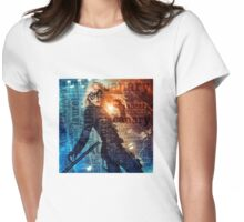 Black Canary Word Picture Womens Fitted T-Shirt