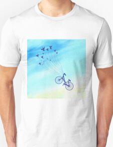 Bike flying high Unisex T-Shirt