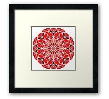 Red Mandala Framed Print