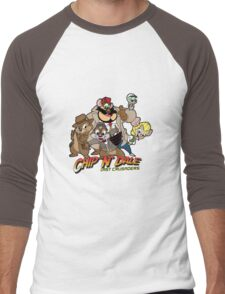 Chip N Dale Last Crusaders Men's Baseball ¾ T-Shirt