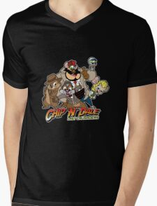 Chip N Dale Last Crusaders Mens V-Neck T-Shirt