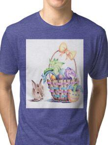 A basket of Easter Dragons Tri-blend T-Shirt