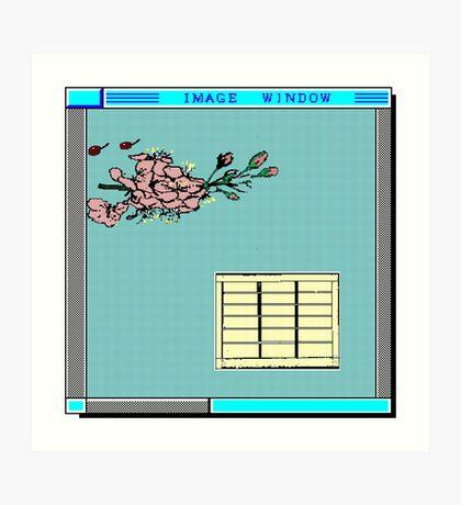 image window jap Art Print