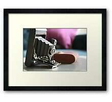 Kodak moments ....vintage Folding Autographic Brownie  Framed Print