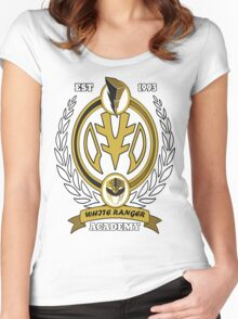 White Ranger Academy Women's Fitted Scoop T-Shirt