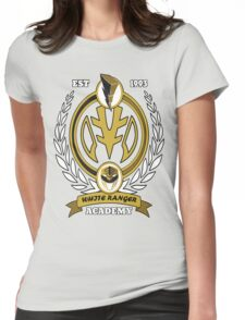 White Ranger Academy Womens Fitted T-Shirt