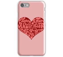 Love languages Heart for Valentine's day  iPhone Case/Skin