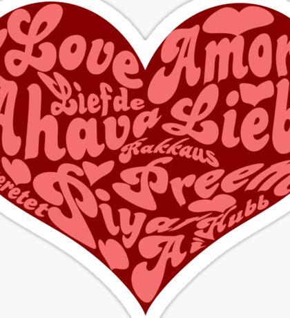 Love languages Heart for Valentine's day  Sticker