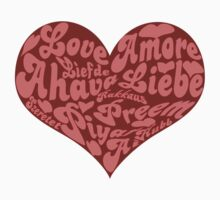 Love languages Heart for Valentine's day  One Piece - Short Sleeve