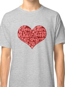 Love languages Heart for Valentine's day  Classic T-Shirt