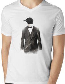Blizzard Penguin Mens V-Neck T-Shirt