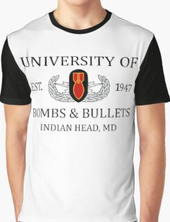University of Bombs & Bullets Indian Head Graphic T-Shirt
