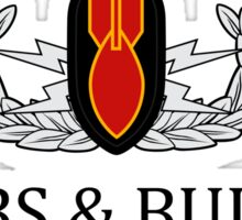 University of Bombs & Bullets Indian Head Sticker
