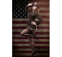 Sexy officer of the American forces in World War II Photographic Print